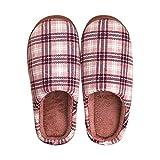 YSFU Hausschuhe Slipper Frauen Gitter Bottom Soft Home Hausschuhe Warme Baumwolle Schuhe Frauen Indoor Slip-On Schuhe Für Schlafzimmer Haus, 39