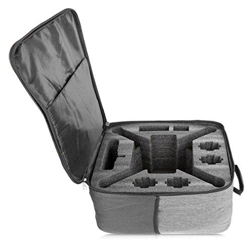 Zarupeng Bolso de hombro a prueba de choques al aire libre de la mochila Bolsa de transporte suave para XIAOMI Mi Drone 4K 1080P FPV RC Quadcopters (Gris)