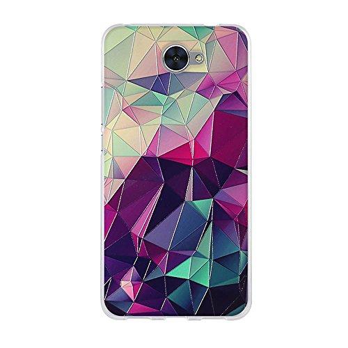 Fubaoda Hülle für Huawei Y7, 3D Visuelle Berührung Zauberwürfel,Hochwertige Langlebige Dünn Soft Silikon Schutzhülle-Schutz vor Fingerabdruck,Staub & Scratch-Stoßfest TPU Handyhülle für Huawei Y7