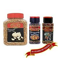Easy Life Combo of Oregano Seasoning 60g and Roasted Chilli 65g with Roasted Garlic 300g