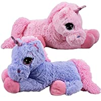 60 cm Large Cute Plush Unicorn Teddy Stuffed Super Soft Cuddly Toy Lying Horse