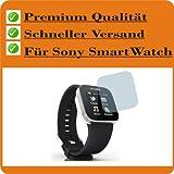 2x Entspiegelnde Displayschutzfolie Bildschirmschutzfolie von 4ProTec für Sony SmartWatch - Nahezu blendfreie Antireflexfolie