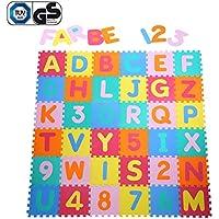 Yorbay Alfombra puzle para Niños bebe infantil, esteras de 32x32 cm, 36 piezas Numeros