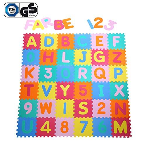 *Yorbay Puzzlematte EVA Schadstofffrei Kinderspielteppich Spielmatte für Kinder-Garden EVA 36 (86 Stück.)*