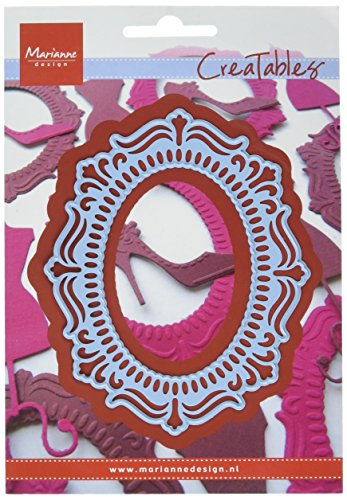 Marianne Design Creatable Cornice Ovale Cutting Die, Metal, Blu, 11x16x0.5 cm