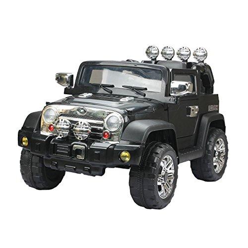 elektrisches kinderfahrzeug Homcom Elektroauto Kinderauto Kinderfahrzeug Kinder Elektro Auto Fahrzeug Spielzeug (Jeep/schwarz)