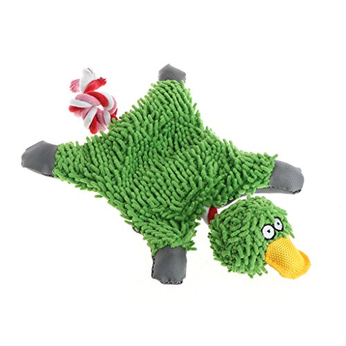 ute Papa Duck Plüsch Hundespielzeug mit Seil ()