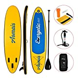 Uenjoy 11ft/3.3m Inflatable Stand Up Paddle Board (6in/16cm Thick) Non-Slip Deck Adjustable Paddle