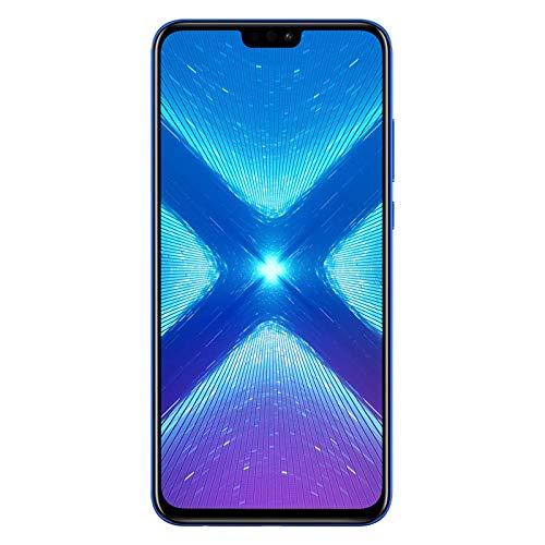 """Honor 8X Smartphone débloqué 4G (Ecran 6,5"""" - Double Nano Sim - 64 Go - Android 8.1) Bleu [Version française]"""