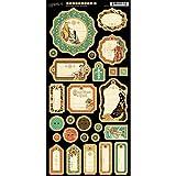 Graphic 45Forêt Enchantée Chipboard Die-Cuts 15cm sheet-journaling, Autres, multicolore 30,5x 30,5cm