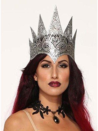 Kostüm Spitzen Forum - Forum Novelties x80377Spitze Queen Krone Dark Royalty, Damen, Silber