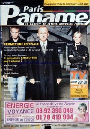 PARIS PANAME [No 1456] du 21/07/2008 - VIE PRATIQUE - DES PROFESSIONNELS A VOTRE SERVICE - DOMICILIATION - ANIMAUX - EMPLOI - AUTO ET MOTO - IMMOBILIER - HOROSCOPE - CONTACTS