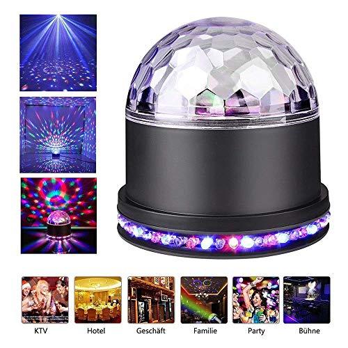 Mini Bola Discoteca Luces RGB 48 LEDs Crystal Magic