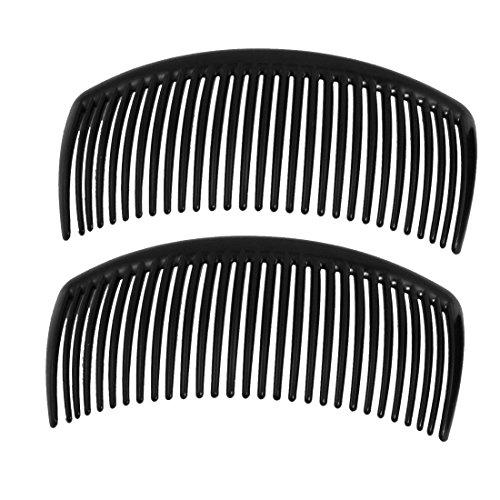 Romote Abrazadera plástica negra clip pelo peine