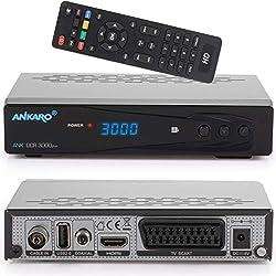 Ankaro DCR 3000 Plus digitaler 1080p Full HD Kabel-Receiver für Kabelfernsehen (HDTV, DVB-C/C2, HDMI, Scart, Coaxial, Mediaplayer, USB) automatische Installation-schwarz