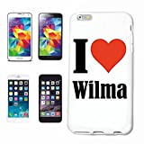 Handyhülle Samsung Galaxy S6 edge I Love Wilma Hardcase Schutzhülle Handycover Smart Cover für Samsung Galaxy S6 edge