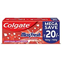 Colgate Max Fresh Red Gel Anticavity Toothpaste, Spicy Fresh - 300g (Saver Pack)