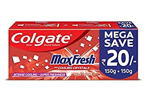 Colgate Max Fresh, Spicy Fresh Red Gel Toothpaste - 300gm, Saver pack