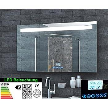 Multimedia Badezimmer Spiegel LED Beleuchtung 51 LED Handy Halterung ...