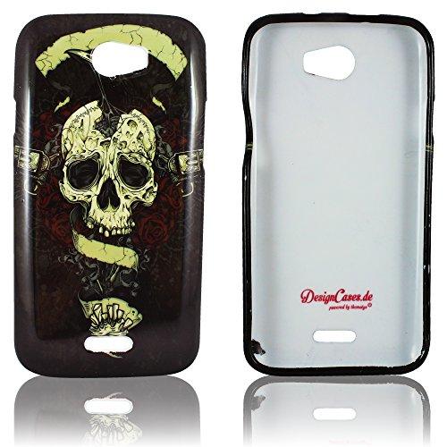 Wiko Barry Schutz-Hülle Silikon Totenkopf weiche Tasche Cover Case Bumper Etui Flip smartphone handy backcover thematys®