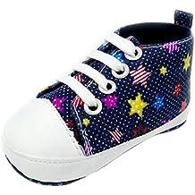 Babyschuhe Jungen, FNKDOR Schuhe weiche Sohle Kleinkind Krabbelschuhe Lauflernschuhe 0-18 Monate