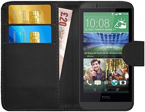 G-Shield Hülle für HTC Desire 510 Klapphülle mit Kartenfach - Schwarz