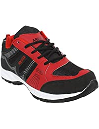 Arexon Men's Synthetic Black Colored Sport Shoe( Men's Running Shoe, Breathable Sports Shoe, High Grip Sports... - B074Q1SSCX