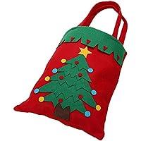 Preisvergleich für itemer Cute Christmas Handtasche Kinder Kids Candy Aufbewahrungsbeutel nicht gewebt Geschenk Tasche für Xmas Party Dekoration, Christmas tree, 42*21cm