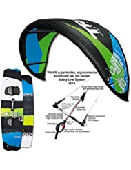 KITE SET TRANS PRIME 2017 ~ 7 QM + BAR & BAG & CROSSOVER KITEBOARD 141 CM