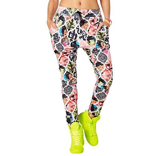 Zumba Fitness Damen Zumba Vibes Harem Dance Pants Frauenhosen, Coral Craze, XXL - Latin Dance Pants