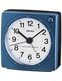 Seiko Unisexe qHR201L réveil analogique-Cadran Blanc-Bracelet Plastique Blanc