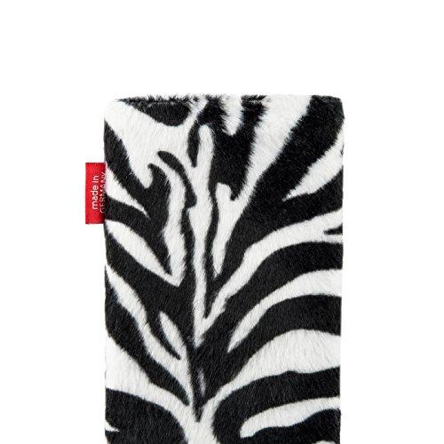 fitBAG Bonga Tigre - housse pochette pour téléphone portable en imitation fourrure intérieur en microfibres pour Apple iPhone 6 / 6S / 7 with Apple Leather Case Bonga Zèbre