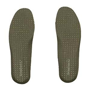 Brasher Semelles fines absorbant les chocs-Vert-Taille 3–2,5 mm