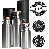 Botella Térmica 500ml de agua sin BPA, ✔ 110% GARANTÍA de por Vida, también 350 ml, 750 ml y 1 litro de Pure Design®