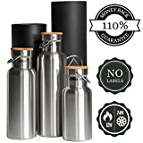 Insulated Water Bottle 500 ml/350 ml for Children./0,3l, BPA-free Insulated Drinks Flask Stainless Steel Drinking Bottle 0.5 L Plastic/Fahrad. 110% Money Back Guarantee, in Gift Box