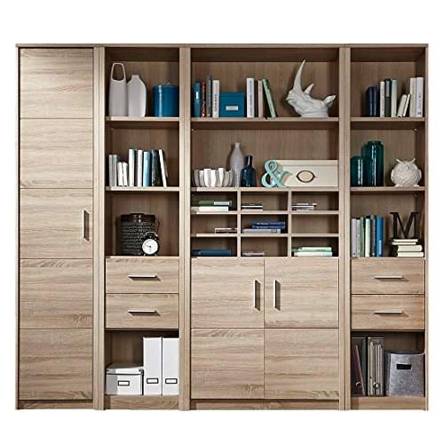 trendteam smart living 1307-902-00 Regal Cool in Eiche-sägerau hell Nachbildung, 229 x 203 x 38 cm
