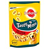 Pedigree Tasty Bites, Dog Treats Chewy Slices with Beef, 155 g, Pack of 8