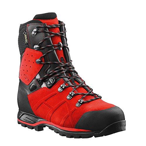 HAIX Protector Ultra Signal Red Leder Forststiefel mit Stahlkappe erfüllt alle KWF Profi-Anforderungen. 45 (Red Protector)