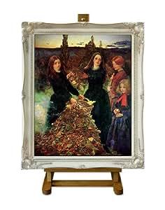Autumn Leaves–Millais Grand encadrée art impression sur toile
