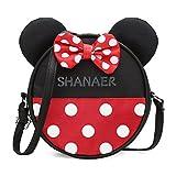 Cuddty cute Cartoon Minnie Mouse spuntino giocattolo per la scuola, borsa a tracolla Crossbody Zoo zaino borsetta per bambini
