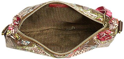 Oilily S Flat Shoulder Bag OES4535-709 Damen Schultertaschen 23x17x4 cm (B x H x T) Braun (Moss 709)