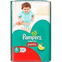 Pampers Baby Dry Pantalon taille 6 Essential Lot 32 (Saphir tendances Ltd de l'article)