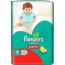 Pampers bebé seco pantalones talla 6 esencial Pack 32 (zafiro Fashions ...