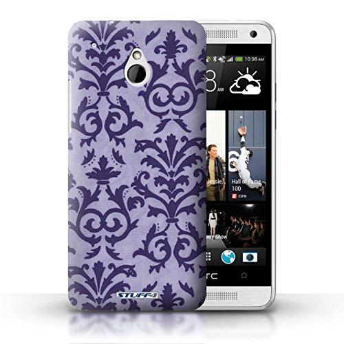 Kobalt® Imprimé Etui / Coque pour HTC One/1 Mini / Jaune conception / Série Motif de défilement Pourpre