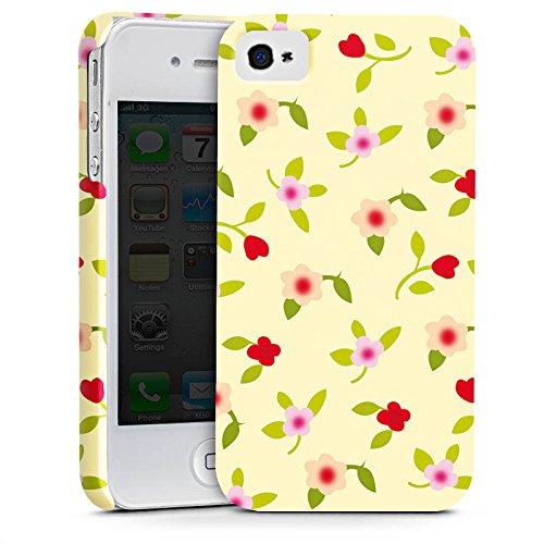 Apple iPhone X Silikon Hülle Case Schutzhülle Blumen Muster Herz Premium Case glänzend