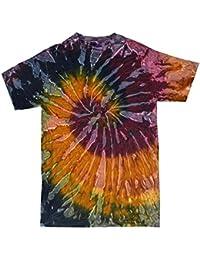 7d34c6672 Colortone Rainbow Tie Dye Top de Manga Corta Camiseta de la Mujer