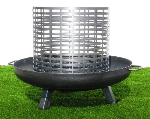 feuerschale 150 cm Feuerkorb für Feuerschale - zweiteilig, passend für alle Feuerschalen von STSOL (Ø: 650 mm - 160 mm)