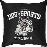 Pit Bull - Hunde Motiv Kissenbezug HUNDEVERSTEHER -Geschenk Hundefreunde 40 x 40 cm Deko- u. Nutzkissen Überzug : )