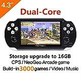Dual-core 16GB 64Bit Console de jeux pour ordinateur de poche 4.3 pouces Built-in...