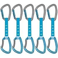 PETZL - Lote de 6 mosquetones de Seguridad, Unisex, para Adulto, 12 cm, Color Azul